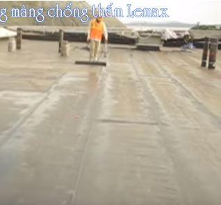 Cách chống thấm sàn mái màng khò nóng Lemax