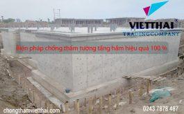Biện pháp chống thấm tường tầng hầm hiệu quả 100%