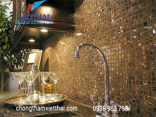 Gạch mosaic ốp lát nhà vệ sinh tạo sự sang trọng