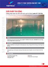 Quy trình chống thấm Bể nước ngầm sử dụng Lanko K11 226 Flex