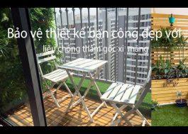 Bảo vệ thiết kế ban công bằng vật liệu chống thấm gốc xi măng