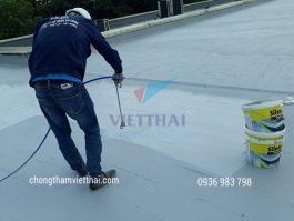 Ngăn nước, giảm nhiệt ngôi nhà bằng vật liệu chống thấm mái bê tông
