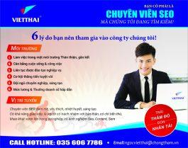 Việt Thái tuyển gấp chuyên viên seo 2019 lương xứng tầm