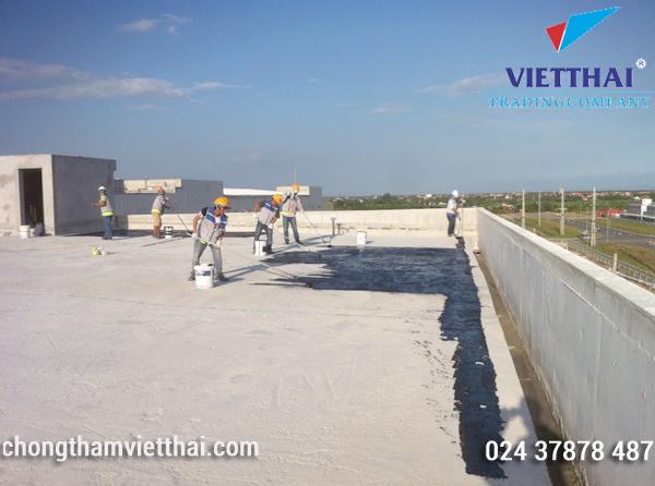 Chống thấm sàn mái nhà máy Jasan – Hải Phòng