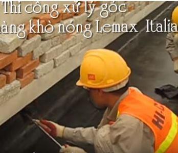 Chống thấm chân tường bằng màng khò nóng Lemax
