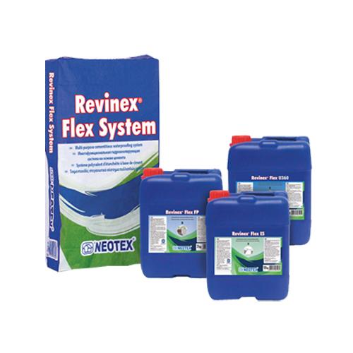 Vật liệu chống thấm gốc xi măng Revinex Flex System – Neotex
