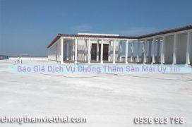 báo giá dịch vụ chống thấm sàn mái