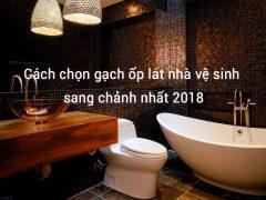 chọn lựa gạch ốp lát đối lập trong nhà vệ sinh