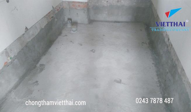 chống thấm chân tường nhà vệ sinh