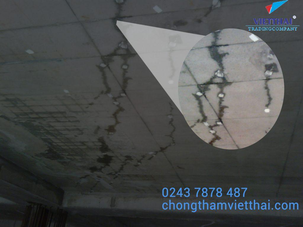 Xử lý nứt sàn mái bê tông