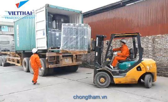 Xuất nhập kho vật liệu chống thấm Việt Thái xuân 2018