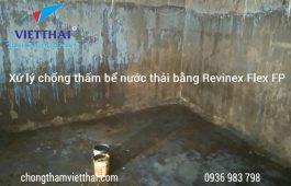 Xử lý chống thấm bể nước thải hiệu quả bằng Revinex Flex FP