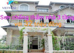 sơn chống thấm nhà 3 tầng chỉ 32 triệu