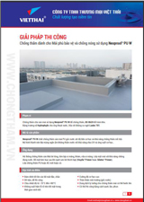 Quy trình chống thấm chống nóng sàn mái phủ bảo vệ Neoproof Pu W