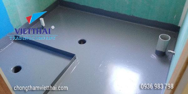 quy trình chống thấm sàn nhà vệ sinh bằng vật liệu gốc xi măng
