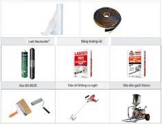 chuẩn bị vật liệu chống thấm nhà vệ sinh