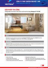 Quy trình chống thấm nhà vệ sinh, khu vực ẩm ướt Neoproof PU 360 – Neotex
