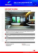 Quy trình chống thấm khu vệ sinh sử dụng Lanko K11 226 Flex