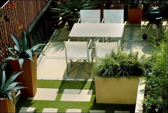 cải tạo vườn trên mái balylon sau khi chống thấm