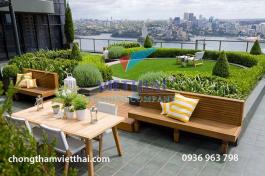 Yên tâm cải tạo vườn áp mái với quy trình chống thấm sân thượng hiệu quả