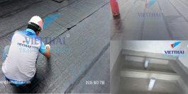 Thi công chống thấm nhà vệ sinh bằng màng khò nóng Breiglas và Bitumode
