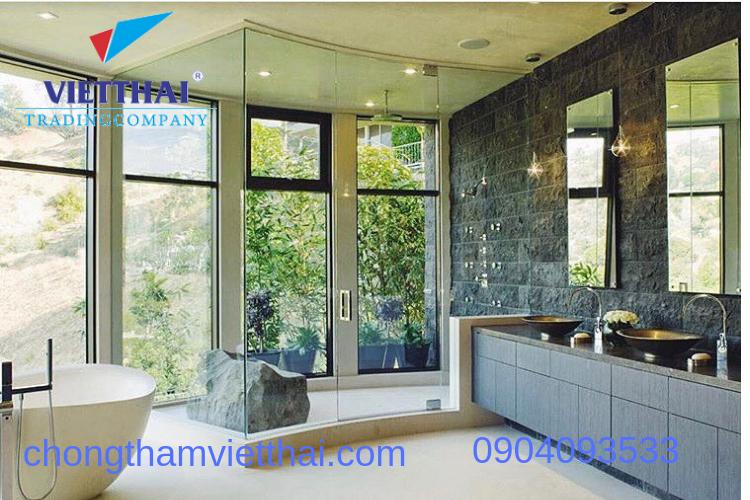 chống thấm để bảo vệ thiết kế phòng tắm spa