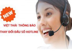 thông báo thay đổi số hotline
