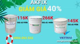 giảm giá vật liệu akfix tháng 6