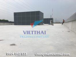 Chống thấm sàn mái nhà máy LS Hải Dương