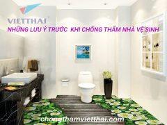 lưu ý khi chống thấm nhà vệ sinh