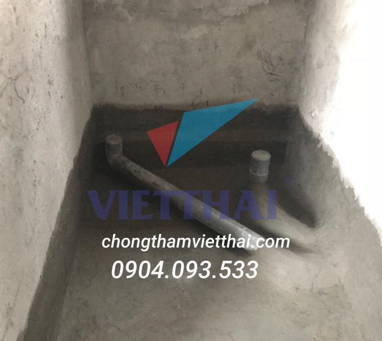 Kỹ thuật chống thấm cổ ống sàn âm nhà vệ sinh bằng vật liệu gốc xi măng