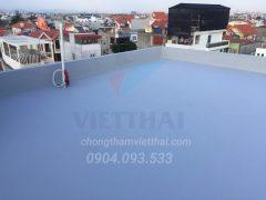 Hình ảnh sàn mái được chống thấm hoàn thiện