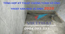 quy trình chống thấm cổ ống xuyên sàn nahf vệ sinh 20220