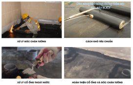 các bước chống thấm nhà vệ sinh bằng mang bitumode 4mm