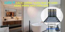 các bước chống thấm nhà vệ sinh bằng mang bitumode 4mm fb